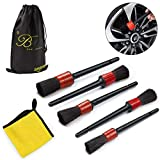 Auto Detailing Brush , Car Cleaner Brush Set For Cleaning Wheels, Engine, Interior