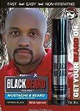 Barbe Noire pour Homme Marron Noir–Couleur temporaire pour les favoris Moustache et barbe