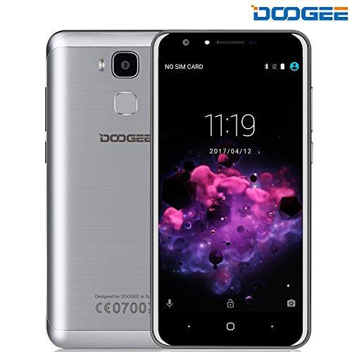 "DOOGEE Y6C Smartphones,Pantalla Sharp HD de 5.5 "",ID de huella dactilar,4G LTE Dual SIM-Libre,2GB -16GB abri¨® Smartphone,Quad Core MT6737 Android 6.0 tel¨¦fono,Built-in 3200mAh Tiempo en espera 72 horas"