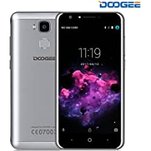 Smartphone Libre, DOOGEE Y6C Teléfono Móvil Libressin Bloqueo de SIM - 5.5 Pulgadas HD - MT6737 Quad Core - Dual SIM - 2GB RAM + 16GB ROM - 8.0MP Doble Cámara - Huella Dactilar - 3200 mAh, en Espera hasta 72 horas - 4G LTE - Android 6.0Móviles - (Plata)