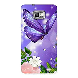 Purple Butterfly Back Case Cover for Galaxy S2