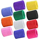 7thLake 1 Pair Sweatbands Sport Wristband Cotton Elastic Sweatbands For Tennis Squash Gym Accessory