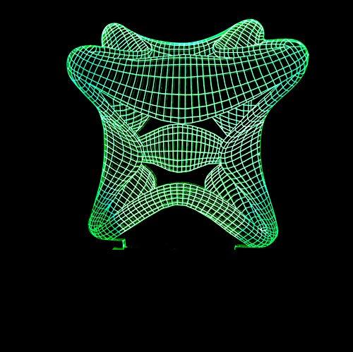 Busjk Berühren Sie die Fernbedienung Seestern 3D Nachtlichter Bunte Lichter Led Touch Fernbedienung Visuelle Lichter Schmücken Kleine Tischlampen