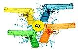 TK Gruppe Timo Klingler 4X Wasserpistolen Größe M Wasserspritzpistolen Wasserspielzeug Wasserpistole Wasser Spritzpistolen Klein Wassergewehr Pistole Wasser Klassiker