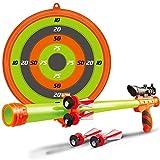 Bakaji Cerbottana Giocattolo Per Bambini Con 5 Frecce Impugnatura Mirino Bersaglio e Porta Freccette