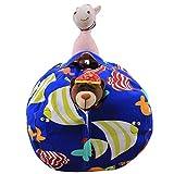 LY-LD Kindergestecke Bean Tasche Stuhl Plush High Kapazität Leinwand-Material für die Aufbewahrung von Plüschspielzeug, Kleidung, Handtücher,C,26inch