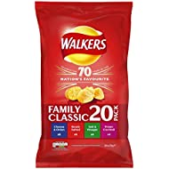 Walkers Variety Crisps, 25 g, Pack of 20