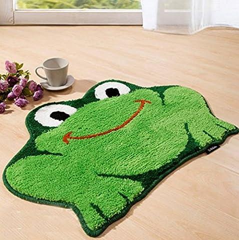 luxbon Grenouille couleur vert Soft/lisse/Flexible Tapis/Tapis/Sol/chambre/salon/salle de bain/cuisine/bureau/maison