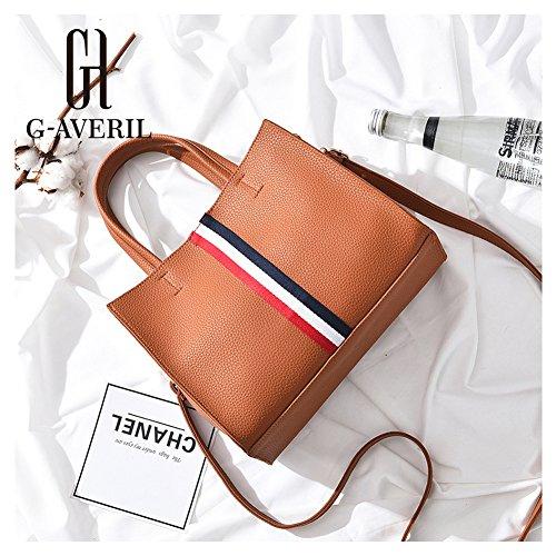 (G-AVERIL)nuovo pacchetto onda signore borsa Messenger Bag donne per le donne borsa marrone