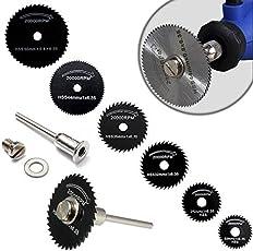 Digital Craft Mini HSS Circular Saw Blade for Dremel Accessory Power Tool, Wood Cutter, Metal Cutting Discs - Set of 7