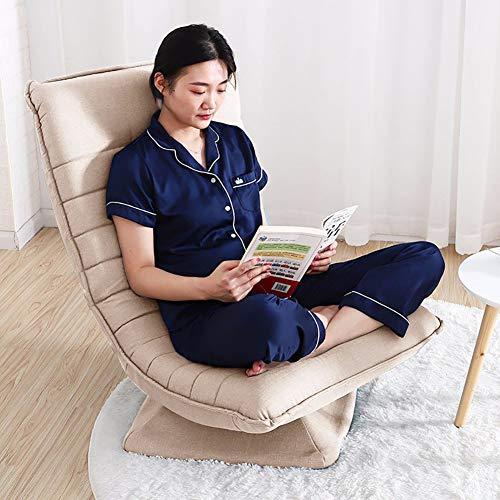tert Stuhl Mit verstellbare rückenlehne Und kopfstütze, Folding Faul Liege Verstellbar Boden Sofa Sessel Zum lesen-Khaki 154x65x22cm(61x26x9inch) ()