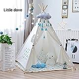 little dove Zelt für Kinder - 100% natürliches Baumwollsegeltuch-Spiel-Zelt für Kinder(mit Matratze)