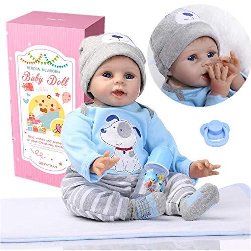 ZIYIUI Puppe Lebensechte Babypuppen Reborn Realistisch Silikon Vinyl Handgefertigt Simulation Reborn Puppen Babys Neugeborenes Mädchen Junge Xmas Gifts (1)