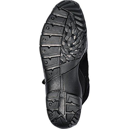 Motorradstiefel Firefox Sport Schuh kurz 1.0, Motorradschuhe Männer & Damen, Schaltverstärkung, atmungsaktives Innenfutter, bequeme Leichtlaufsohle, Klettriegel zur Schnürsenkelfixierung, schwarz, 42 - 6