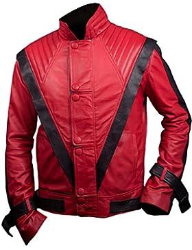 Leatherly Chaqueta de hombre Michael Jackson Thriller Sintético Cuero Chaqueta