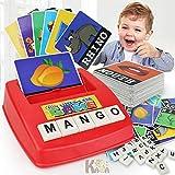 XuBa Buchstabenspiel, englische Lernkarte, Lernmaschine, Lernkarten, Spielzeug, Geburtstagsgeschenk für Kinder
