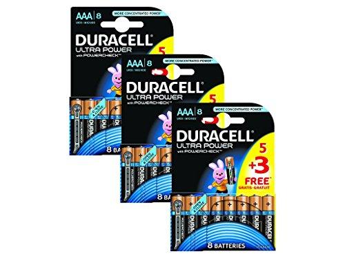 Duracell MN2400 Ultra Power AAA Batterien 24er Pack