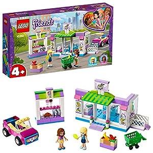 LEGO Friends - Supermercado de Heartlake City Nuevo set de construcción de Tienda de Juguete con Carrito de la Compra y Puestos de Comida, incluye Coche Descapotable Rosa (41362)