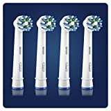 Oral-B CrossAction Toothbrush Heads Pack of 4 Replacement Refills for Electric Rechargeable Toothbrush