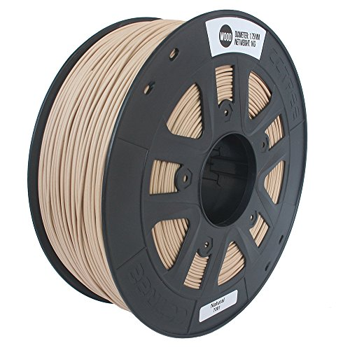 Price comparison product image CCTREE 3D Printer Wood Filamental For Creality CR-10S 3D Printer, 1kg Spool (2.2lbs),  Natural
