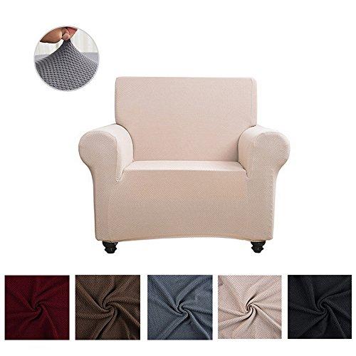 souart Gestrickter Jacquard Sofabezug elastische Sofahusse Sesselbezug Sofaüberwurf Couch Husse in...
