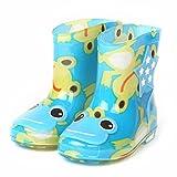 Bebé Botas de lluvia BBsmile Botas de lluvia para niños infantiles de goma impermeable Botas de lluvia para niños infantiles zapatos de lluvia para niños (Azul, 24)