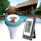 NZNNXN Pool-Thermometer Wasser Thermometer: Digitales Teich und Poolthermometer mit LCD-Funk-Empfänger Thermometer Pool