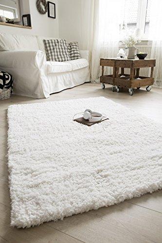 Bradford Wohnzimmer (Kuschel Teppich Bradford Weiss in 3 Größen SOFORT LIEFERBAR)