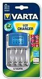 Varta LCD Charger Ladegerät für 4 AA/AAA Akkus (12V Adapter + USB Kabel) - unbestückt