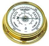 Tabic Messing-Barometer, mit Lacquered Messing 1/2kg, wasserdicht, Yacht Schiff, Uhr, Geschenk, Hergestellt in England