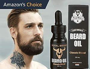 Sudiksha Royal Bravo Men's Beard Mustache Softener Oil with Dropper (30ml)
