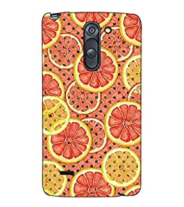 Fuson Designer Back Case Cover for LG G3 Stylus :: LG G3 Stylus D690N :: LG G3 Stylus D690 (Cut Oranges Theme)