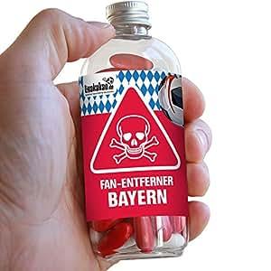Fan-Entferner Bayern | Lakritz Giftköder zur effektiven Abwehr von FC Bayern München-Fans | Dortmund, Schalke & alle Fußball-Fans Aufgepasst, diesen Süßigkeiten kann kein Freund widerstehen | Lakrit