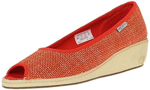 Keen Cortona Wedge Jute Damen US 8 Orange Keilabsätze UK 5.5 EU 38.5