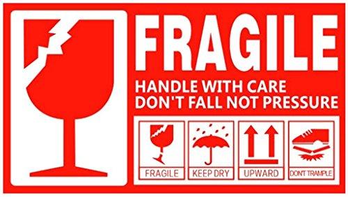 "VishYogi Printers Fragile/Keep Dry/This Side Up/Upwards/Pressure Label 3""X5"" (100)"