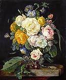 Das Museum Outlet–Stilleben mit Blumen, Kirschen und eine Uhr–1655–Poster Print Online (61x 45,7cm)