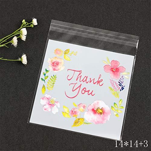 Candy OPP Tasche Kunststoff Selbstklebende Keks Verpackung Transparent OPP für Hochzeit Geburtstag Party (XL) ()
