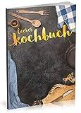 Dékokind Leeres Kochbuch: Für über 80 Lieblingsrezepte || Ca. A5 Softcover || Rezeptbuch zum Selbstgestalten / Selberschreiben mit Inhaltsverzeichnis || Motiv: Kochbesteck