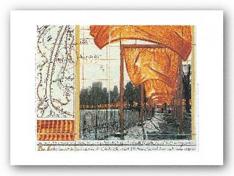 The Gates XV von Javacheff Christo Kunstdruck (Gates Christo Javacheff)