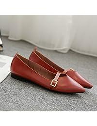 Xue Qiqi Señaló Zapatos Planos Superficial Plana Hembra Boca Solo Zapatos Zapatos Cómodo e Informal con un Paso...