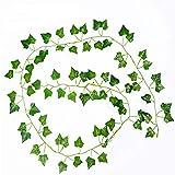 Ogquaton Artificielle Lierre Feuille Guirlande Plante Suspendue Faux Verdure Fleur Vert Feuilles pour La Maison Bureau De Mariage Décoration Murale