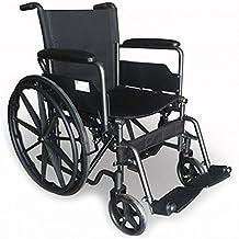 Modelo S220 | silla de ruedas de acero plegable con asiento de 43 cm | Ruedas