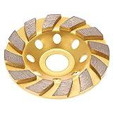 KKmoon 100mm x 22mm Diamant Schleiftopf Verdickte Schleifteller Topfscheibe Schleifscheibe für Beton Mauerwerk Stein Bauindustrie, Universal Diamond Segment Grinding Wheel Golden