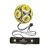 Allenatore di calcio a mani libere PodiuMax, nuovo design con sistema di bloccaggio a sfera, cinghia regolabile in vita con cordino per tutti i livelli (si adatta a palloni di misura 3, 4, 5)