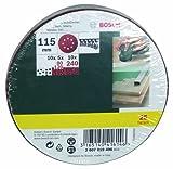 Bosch 25-teiliges Schleifblatt-Set für Exzenterschleifer, Ø 115 mm, Körnung 80, 120, 240, 2607019496