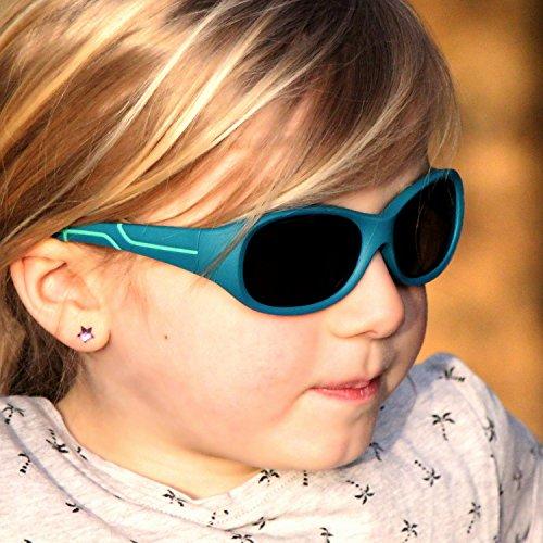 ActiveSol Lunettes de soleil sportives pour enfants   Fille et Garçon   Protection  100 % UV 400   polarisées   indestructibles en caoutchouc souple   5-10 ... 98653aca048e