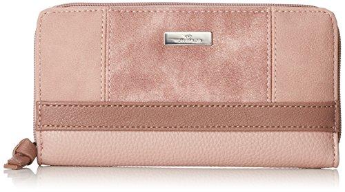 TOM TAILOR Geldbörse Damen Juna, Rot (Rose), 2.5x10.5x20 cm, Portemonnaie Damen