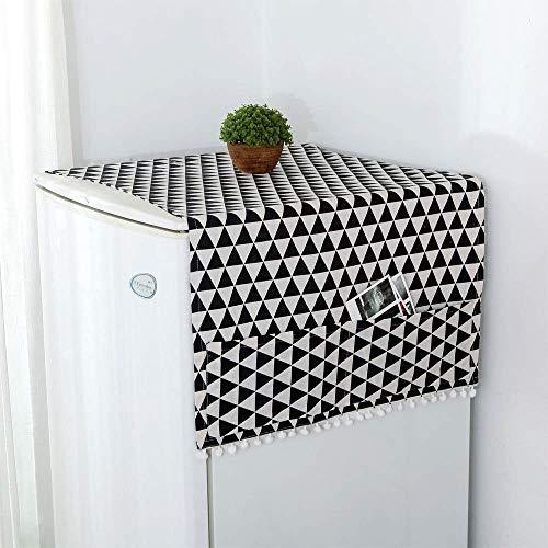 takestop® Housse Anti-poussière pour réfrigérateur et Poche de 55 x 130 cm Protège du Froid Tissu Housse de Machine à Laver Décoration Couleur aléatoire