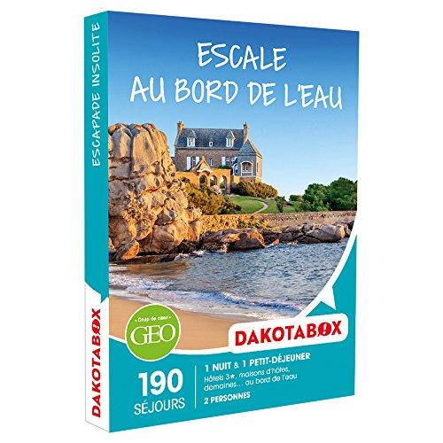 DAKOTABOX - Coffret Cadeau - ESCALE AU BORD DE L'EAU - hôtels 3*, maisons d'hôtes,...