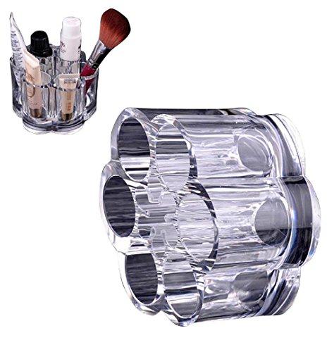 Prugna Fiore Acrilico trasparente a forma di rossetto cosmetica spazzola la cassa del supporto trucco,Fami